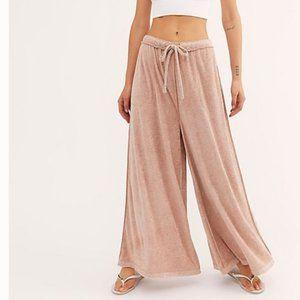 NWT Free People Pink Make It Maxi Wide Leg Pant